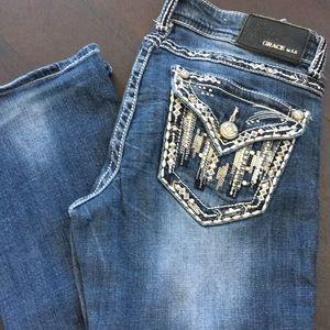 Grace In LA Embellished Pocket Jeans 27